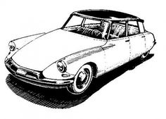 All sizes | DS line drawing | Flickr - Photo Sharing! #citroen #print #auto #car #drawing