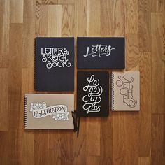 Lettering Notebooks