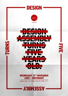 Design Assembly Turns Five designetica.com | Brendon O'Dwyer — Graphic Designer #nz #assembly #design #poster