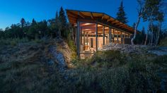 One-Bedroom Cabin Nestled Between Two Massive Lichen-Covered Rocks 7