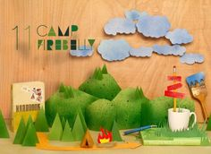 UPPERCASE - journal #cut #mountain #cloud #adventure #creativity #camp #craft #paper #firebelly