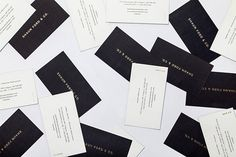 SHAUN FORD & CO on Behance #white #business #branding #card #black #identity #gold #and #foil