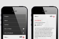 Stir by Bielke+Yang #brand design #website #web design