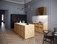 Montparnasse Apartment by Art Buro - #decor, #interior, #homedecor