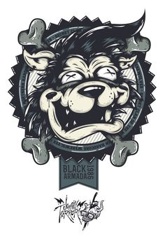 Black Armada's Hardcore Werewolf on Behance #apparel #design #details #illustration #character