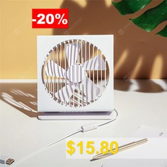 XIAOMI #Original #VH #CE #7 #Inch #Portable #Mini #Metal #Mute #Fan #5 #Blade #Dual #Mode #Home #Office #Desk