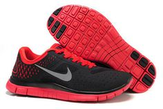 Nike Free 4.0 V2 Cool Grey Platinum University Red Silver-Mens #shoes