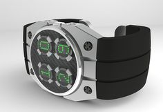 Chunky Style LED Watch #tech #amazing #modern #innovation #design #futuristic #gadget #ideas #craft #illustration #industrial #concept #art #cool