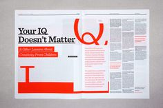 Editorial Design Inspiration: 99U Magazine #design #graphic #editorial #typography