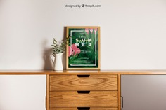 Decorative frame mockup on desk Free Psd. See more inspiration related to Flower, Frame, Mockup, Floral, Wood, Template, Table, Floral frame, Mock up, Plant, Decoration, Creative, Desk, Flower frame, Interior, Plants, Decorative, Wooden, Creativity, Pot, Up, Decor, Wood frame, Wooden table, Flower pot and Mock on Freepik.
