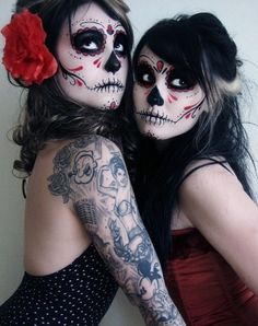 tumblr_ldpt2aDnLI1qasqa8o1_500.jpg (478×604) #dia #make #photo #design #de #tattoo #up #muertos