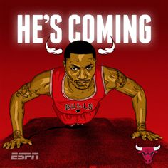 ESPN NBA Illustrations on Behance #chicago #rose #derrick #illustration #bulls #nba #basketball