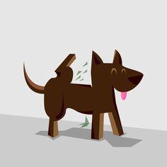 Graphics / Me Ando... on Behance #perro #dog #pee #pipi #ecuador