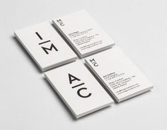 Black and white business card design. #typography