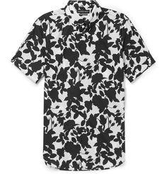 ALEXANDER MCQUEEN Brad Slim-Fit Floral-Print Cotton Shirt
