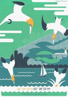 Birds and Lighthouses - Magnificent Octopus Illustration #illustration