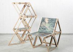 Uglycute #critical #chair #design #wood #paint #furniture #art
