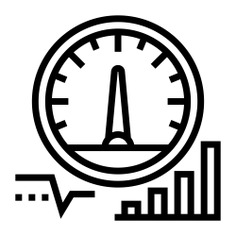 See more icon inspiration related to meter, speed, time and date, business and finance, efficiency, diagnostic, attitude, line graph, stats, velocity, bar graph, performance, electronics, measure, analysis, statistics and speedometer on Flaticon.