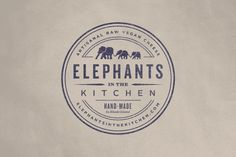 Elephants in the Kitchen Logo by Bluerock Design #logo #vintage