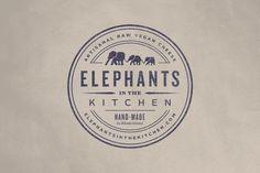 Elephants in the Kitchen Logo by Bluerock Design #logo #vintage