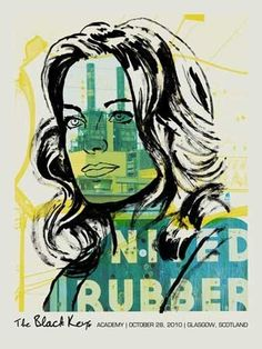 FFFFOUND! | BLACK KEYS -WOMAN FACTORY « Limited Edition Gig Posters « Methane Studios #poster #methane