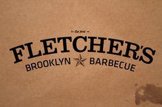 Fletcher's Brooklyn Barbecue #branding #barbecue #identity #fletchers #custom #logo #brooklyn #typography