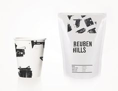 Reuben Hills' Dark, Bold Branding #packaging #print #branding