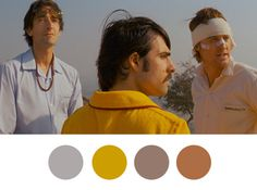 Jack: I wonder if the three of us wouldve been friends in real life. Not as brothers, but as people. #wes anderson #color palette