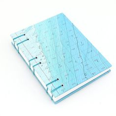 Nautical Chart Journal - made with a very unusual map #cover #binding #book #map