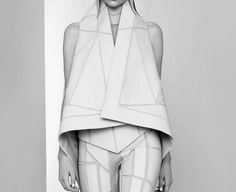 922306_dznrnYB8_c.jpg (Imagem JPEG, 500x407 pixéis) #girl #fashion #black and white #gareth pugh