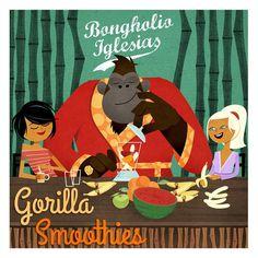 Bongholio Iglesias - finest gorilla grooves http://www.mixcloud.com/LaidBackRadio/bongholio-iglesias-gorilla-smoothies/ #illustration #gorilla #music #groove #beats