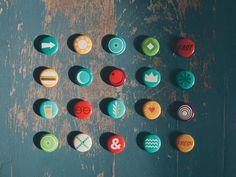 HipCityVeg Buttons #design #branding #food #circle #pin #button #hipcityveg
