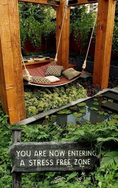 CJWHO ™ (Stress Free Zone I'm going to spend more time on...) #cozy #relax #design #books #pool #reading #exteriors #luxury