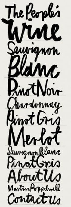 wine #handwriting #ink #brush