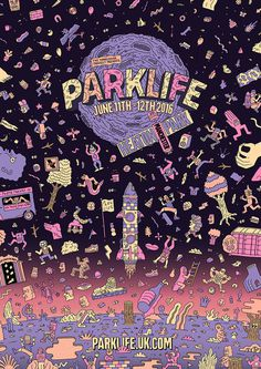 Studio Moross creates new illustration-led identity for Manchester's Parklife festival #illustration #festival #music #animation