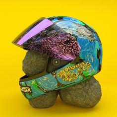 Baauer - One Touch f. Alunageorge and Rae Sremmurd #helmet #color #rocks #blocking #baauer #neon