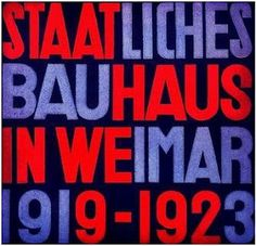 Modernism: Some more Bauhaus image: posters, magazines, crafts #font #distress #vintage #redblue