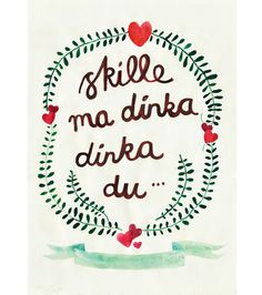 Michelle Carlslund Skille-ma-dinka-dinka-du Christmas Cards 2012 #heart #rhyme #christmas #danish