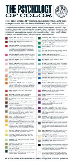 Color Psychology Chart #color #chart
