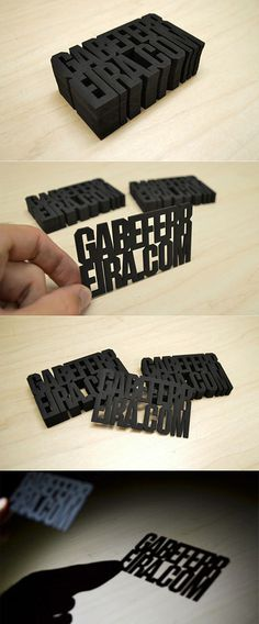 Laser Cut Business Cards #type