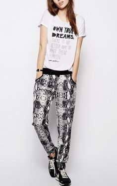 Own your dreams #white #loose #fit #tshirt #fashion