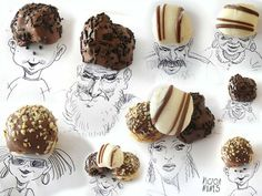 candy, drawing, mix, inspirational art #nunes #sketches #faces #food #candy #victor #figure #face #art #object #artist #drawing
