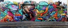 Erotic realism in graffiti street art erotic