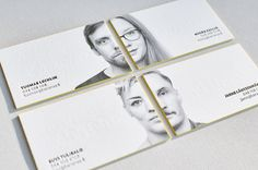 Letterpress business card with portrait and painted edges | Elegante Press #portrait #businesscard #letterpress