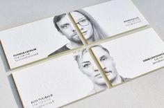 Letterpress business card with portrait and painted edges | Elegante Press #portrait #businesscard #letterpress