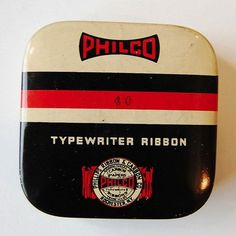 FFFFOUND! | Vintage Packaging: Typewriter Tins - TheDieline.com - Package Design Blog