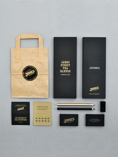 James Tea Merchants #james #tea #branding