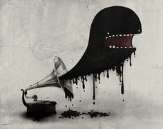 All sizes | Music Will Eat You | Flickr - Photo Sharing! #warburton #illustration #weird #hylton