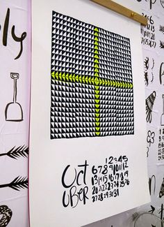 national stationery show 2012 neon #typography #poster