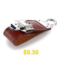 Portable #Leather #Mirco #USB #3.0 #OTG #Flash #Drive #U #Disk #- #TIGER #ORANGE